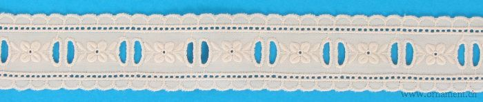 Rose Embroidered Cotton Trim #26