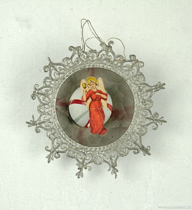 Tin rosette with Angel scrap