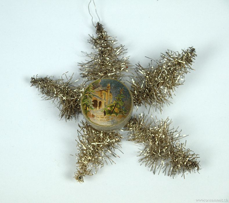 Small Cardboard Container on a Tinsel star