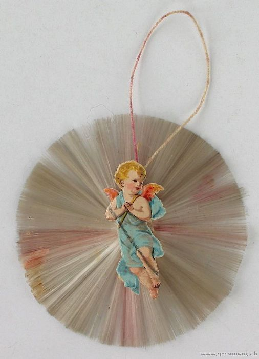 Angel Scrap on Spun Glass Rosetta