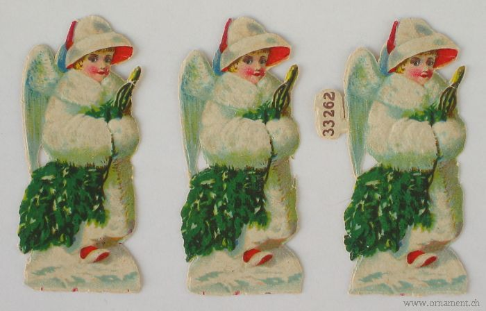 Three Angel Scraps with Tree