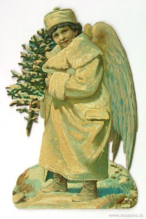 Angel Die Cut with Tree
