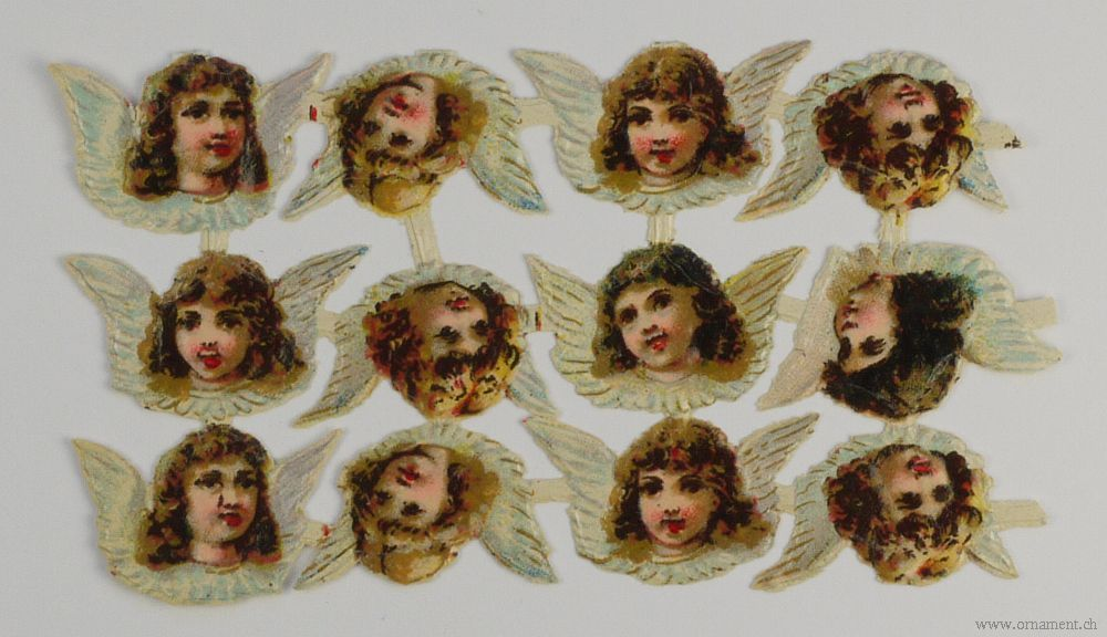 Sheet of Angel Heads