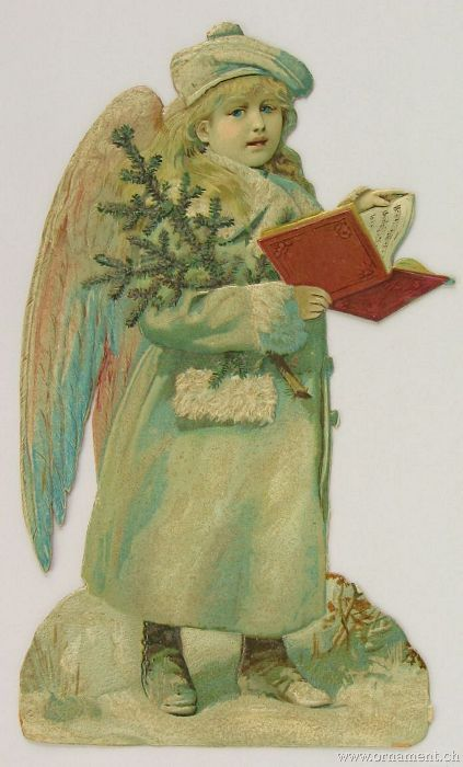 Angel Die Cut with Song Book