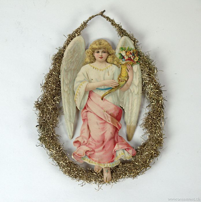 Angel with Cornucopia and Flowers