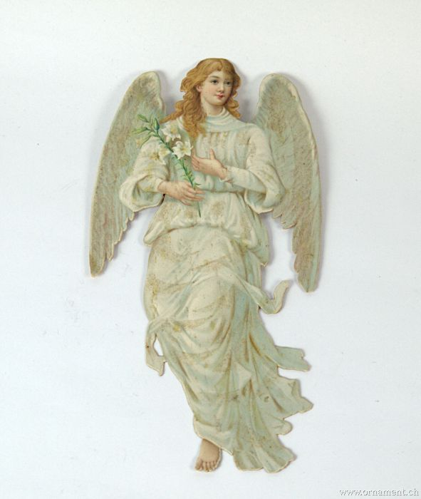 Large Angel with Cornucopia and Lilies