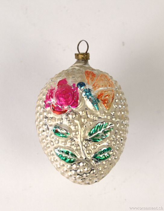 Ornament with Butterfly and Flower