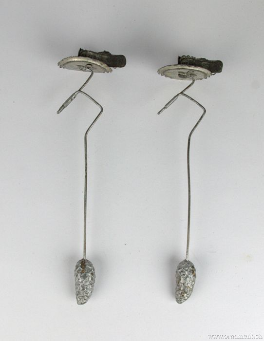 Two Pendulum Candleholders with Clip