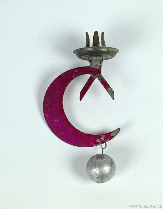 Pendulum Candleholder with Crescent Moon