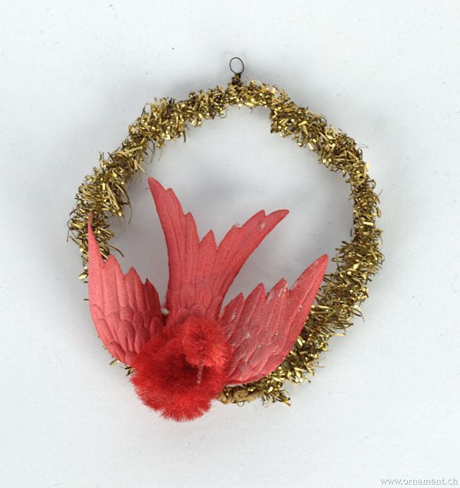Chenille Bird in Tinsel Wreath