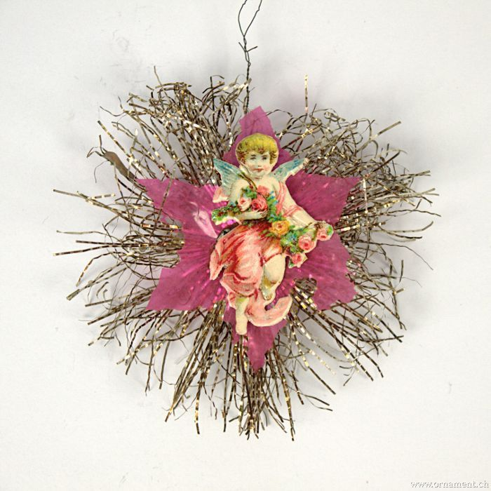 Tinsel Star with Angel Scrap