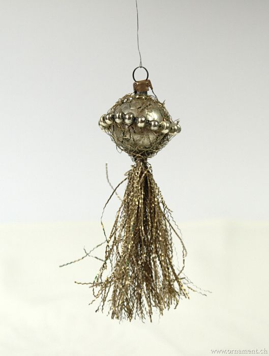 Tinsel Ornament with Glass Beads