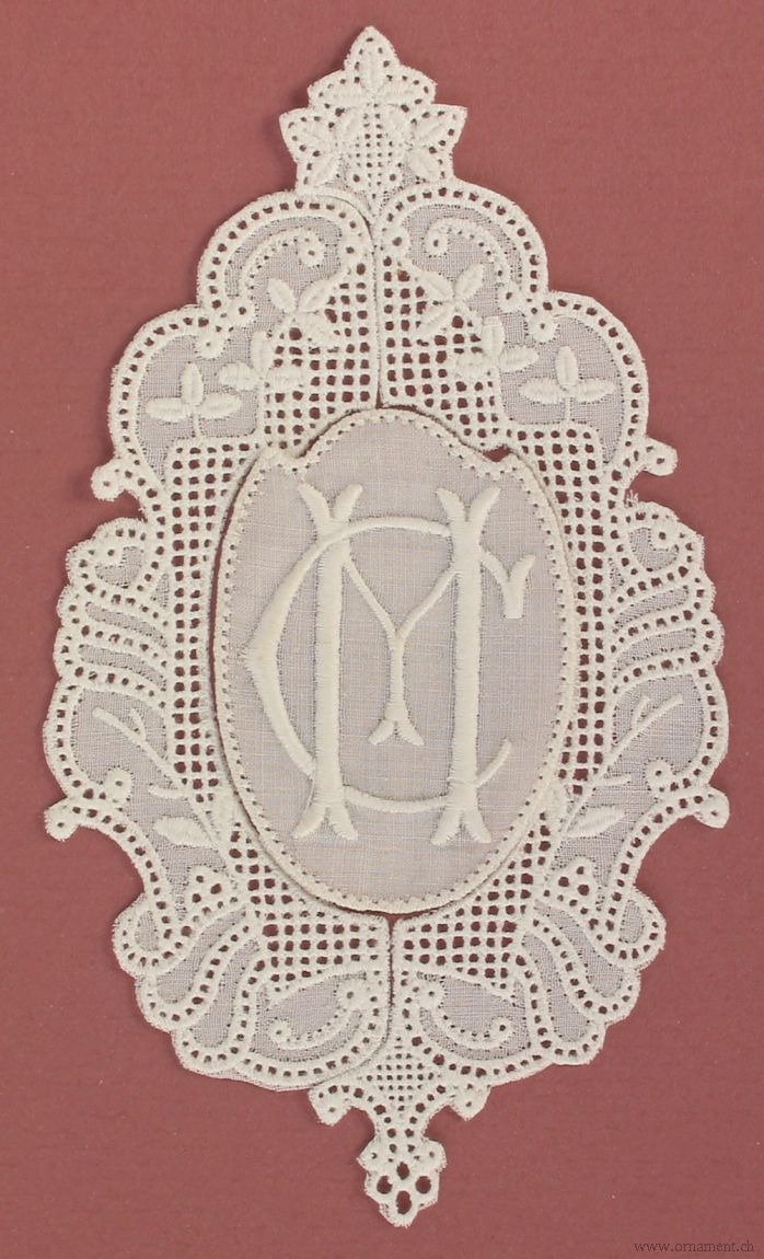 Oval Frame with Double Monogram