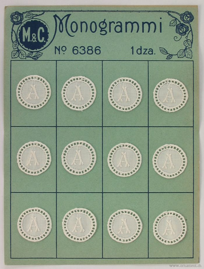 Card with Twelve Monograms