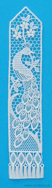 Bookmark with Peacock