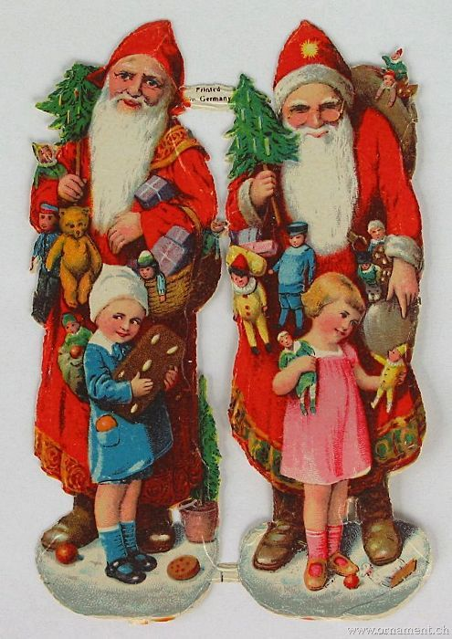 Two Santas with Children