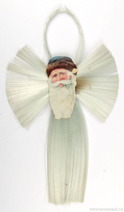 Santa Scrap on Spun Glass Rosetta with Tail