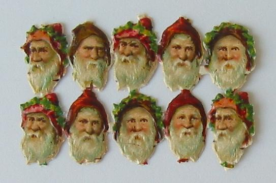 Sheet of Scraps of Santa Heads