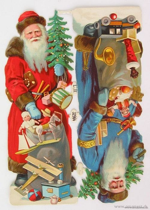 Two Santas with Toys