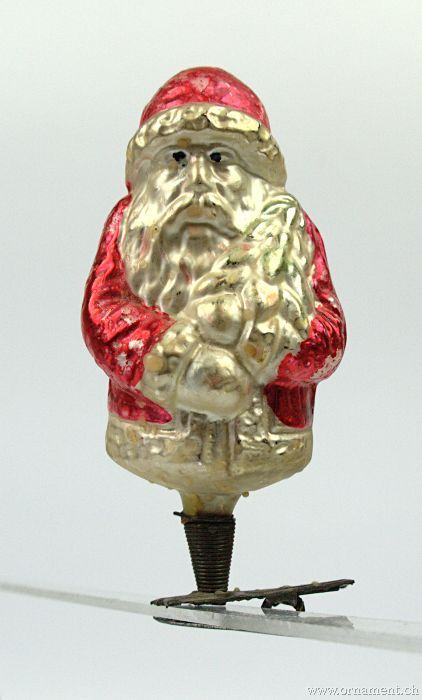 Santa with Coat on Clip