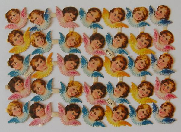 Sheet with 35 Cherubs