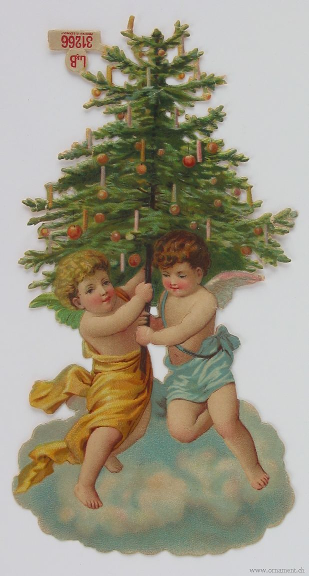 Christmas Tree Scrap with Angels
