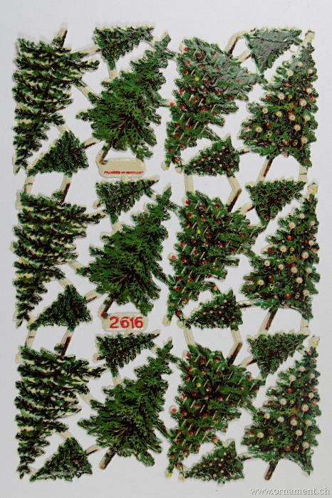Sheet of Christmas Tree Scraps