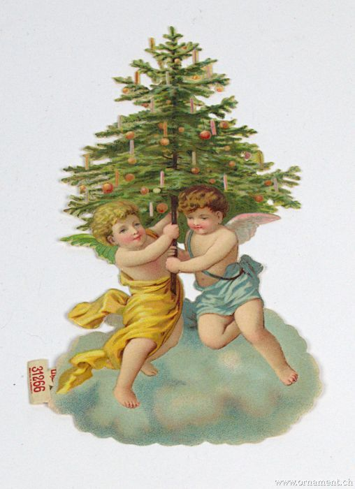 Big Christmas Tree Scrap with Angels