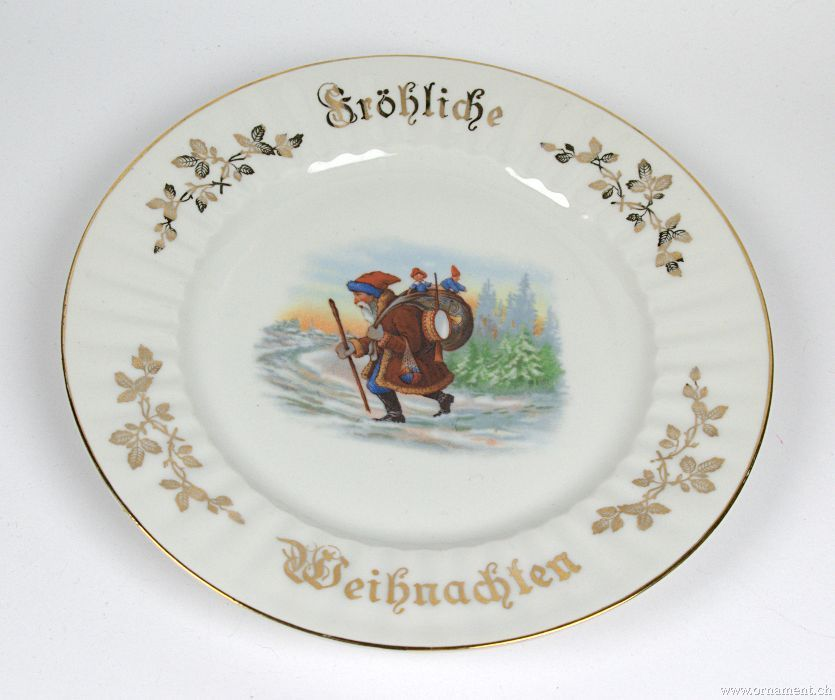 Porcelain plate - with Santa Figure