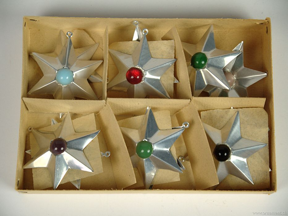 Box with 12 Aluminium-Stars