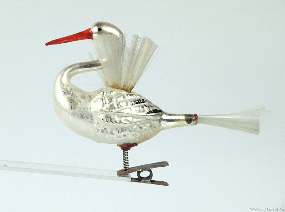 Swan with Spun Glass Wings