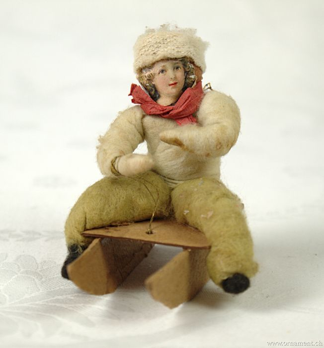 Cotton Girl on Sled