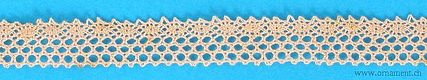 Apricot Embroidered Cotton Trim #23