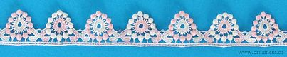 Pink Embroidered Cotton Trim #25