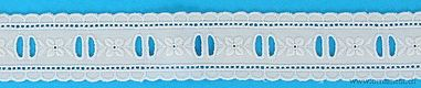 Blue Embroidered Cotton Trim #27
