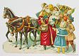 Santa with Children and Horses