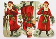 Sheet of Three Santas with Bells