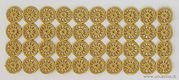 Sheet with 40 Golden Dresden Wheels